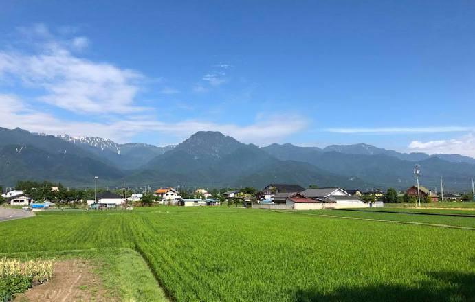 長野県安曇野の風景